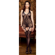 Garter Dress w/Baroque Design (Halter) - Queen Size
